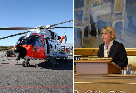 NYTT: Det nye AW-101  redningshelikopteret er allerede satt i drift sammen med utdaterte Seaking. Onsdag var oppgradert landingsplass i tilknytning til Sykehuset Namsos tema i Stortingets spørretime.