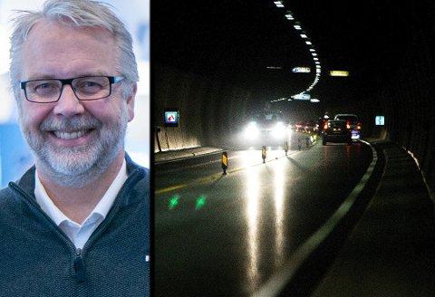 OFFENTLIG REGI: Vedlikeholdet av lys i tunellene er blant oppgavene som kan bli overført fra private til fylkeskommunens egne folk.