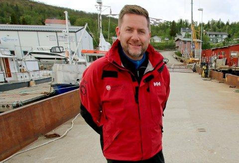 STORE PLANER: Konsernsjef Daniel Skjeldam vil ikke snakke om den potensielle kjempegevinsten han kan hente ut dersom Hurtigruten blir børsnotert. Her er han i Eidkjosen i Tromsø tidligere i vår.
