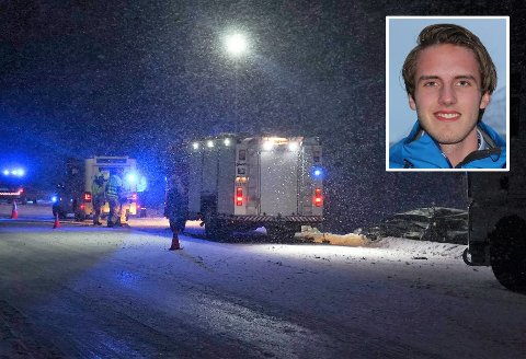 KRITISK SKADD: Charlie Dan Skovli Lind (innfelt) ligger fortsatt i koma på UNN etter ulykken på trefelten ved Vollan 7. januar.