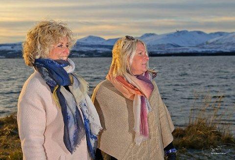 Kunstner Kari Rindahl Endresen og forretningskvinne Helene Karde står bak kunstsjerfene som skal selges gjennom Kunstskjerf AS.