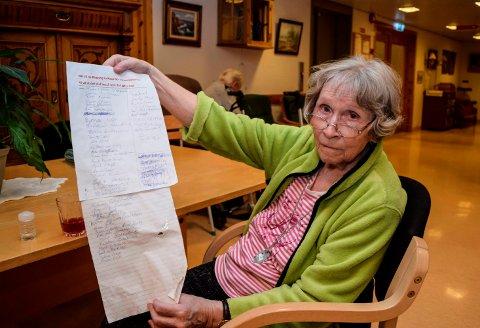 UNDERSKRIFTSAKSJON: - Jeg flytter heller hjem enn til en annen institusjon, sier Marie Helene Venger, som har startet underskriftsaksjon for å opprettholde Kapp bo- og servicesenter.