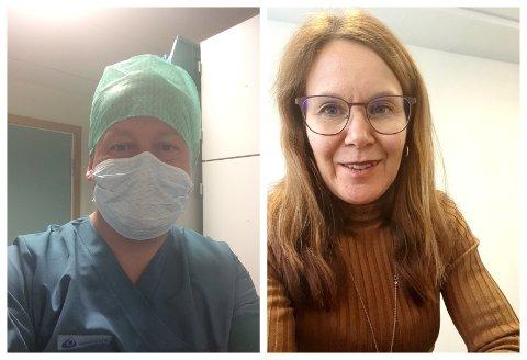 SØKER HJELP: Ordfører Torvild Sveen og tjenesteleder for helse og omsorg i Gjøvik kommune, Pernille Egedius, oppfordrer alle med helsefaglig utdanning å melde seg.
