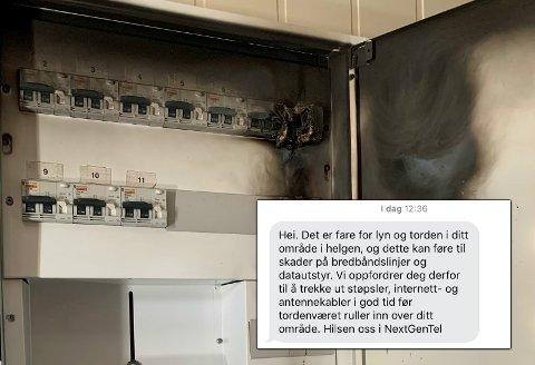 SKUMMELT: Lyn og torden kan gi skader på teknisk utstyr og ødelagte bredbåndslinjer. Fredag advarer Nextgentel sine kunder om mulig uvær fredag kveld.