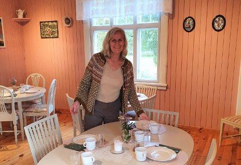MYE Å GJØRE: Kristin Søbstad har hatt ekstremt mye å gjøre etter at hun og Morten Lossius overtok Haugtun  gårdspensjonalt 1. juli i år.