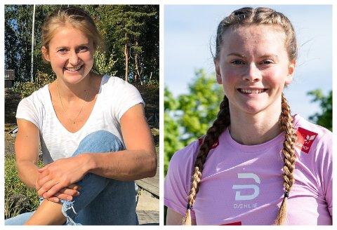 PÅ SAMME LAG: Både Ingvild Flugstad Østberg (t.v.) og Mathilde Myhrvold er tatt ut på elitelandslaget i langrenn kommende sesong.