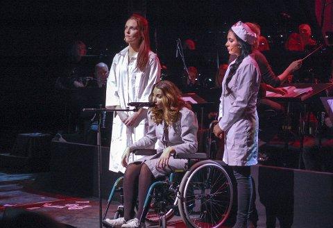 I rullestol: Eva Peron (Nora Jabri) endte i rullestol før hun døde av livmorkreft, 33 år gammel.