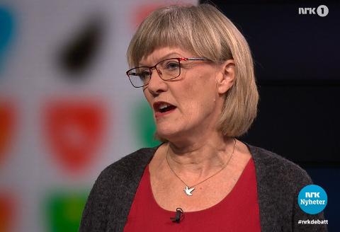 SVs Karin Andersen rettet skarp kritikk mot Viken torsdag kveld.