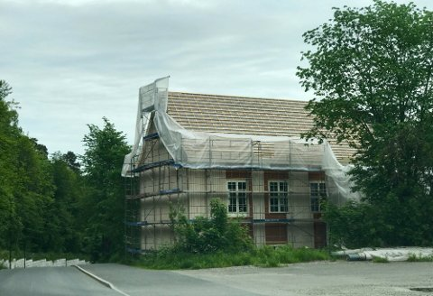 Skolebakken 8 da byggingen startet i 2017. FOTO: RHA.no