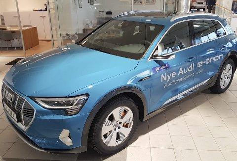POPULÆR: Audi E-Tron selger godt også i Rana. 13 eksemplarer er allerede bestilt av den helelektriske SUV-en. Foto: Trond Isaksen