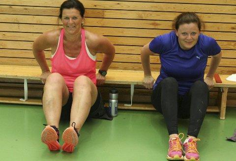 Marianne Stigsrud og Trude Ødegaard kjenner god effekt fra treningen.
