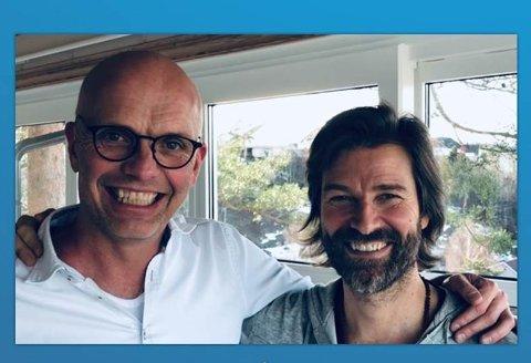 Helt tilstede: Arnt Sæther og Viggo Johansen vil hjelpe deg med tilstedeværelse og glede.