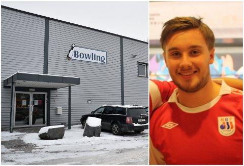 SAMLER INN PENGER TIL BOWLINGHALLEN: Øyvind Kulseng fra Hønefoss prøver å redde Hønefoss bowlingsenter.