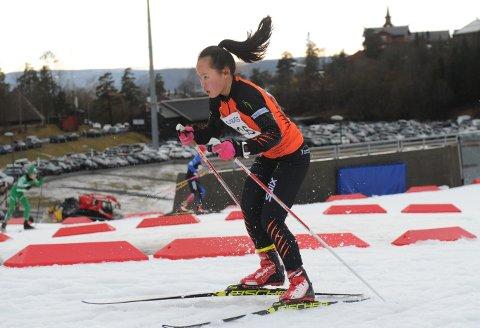 FIN UTVIKLING: Ragnhild Gunleiksrud gikk et bra løp i Holmenkollen på lørdag.
