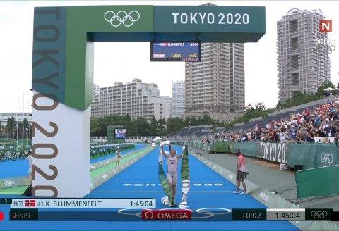 Kristian Blummenfelt gikk til topps og tok Norges første OL.gull i triatlon, og Norges første medalje i Tokyo-OL.