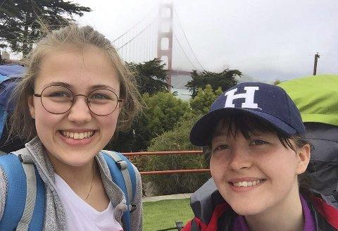 Opplevelse: Med få midler har Pauline og Magnhild brukt sommeren på reise i USA. En opplevelse de ikke vil glemme. Alle foto: Privat
