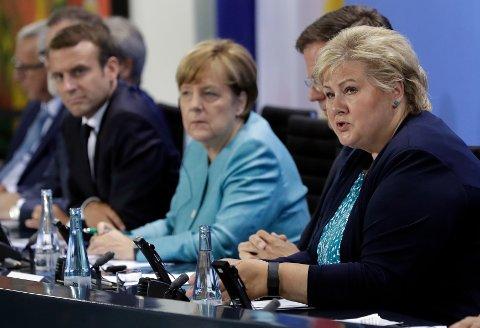 Erna Solberg får møte Angela Merkel og de andre toppene i G20-klubben fredag og lørdag.