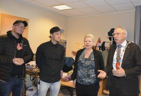 Fikk PRiS: Eddy Lyshaug og Kenneth Hansen representerte Spydeberg Rock da de fikk Østfoldprisen.