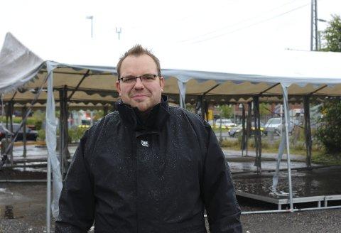 RAMMET AV UVÆR: Ronny Bergersen i Kraft-festivalen måtte avlyse årets gratiskonserter.
