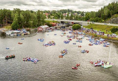 FOLKSOMT: Hele sommeren trekker store arrangementer folk til Ørje og Haldenvassdraget.