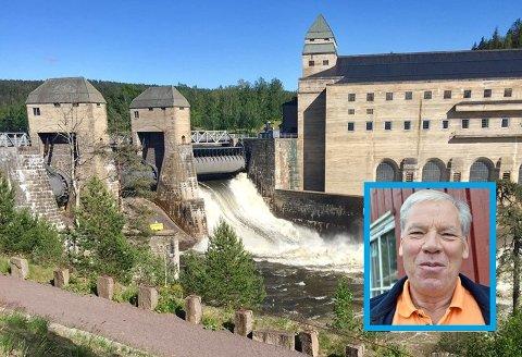 Wiggo Hagen (innfelt) tok dette bildet av Solbergfoss sist søndag.
