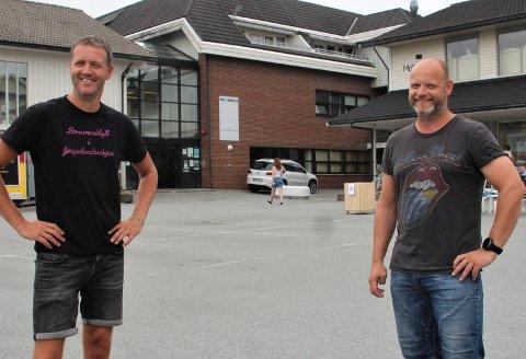 STARTER PÅ FREDAG: Rune Harestad og Arnt Helge Aakre i ERA Konserter & Underholdning ser frem til å starte med konserter i Sommerteltet igjen.
