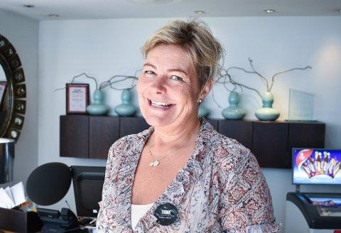 Hotelldirektør Trine Bingen fra Berger er glad de får åpne dørene igjen.