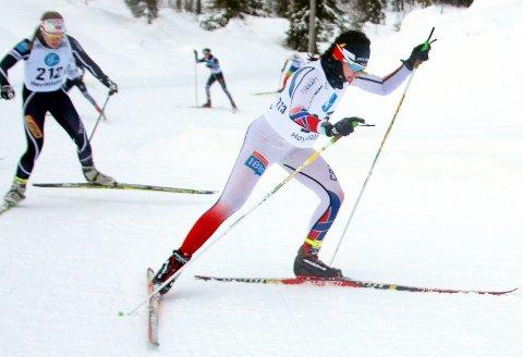 ANNENPLASS I NC-FINALEN: Kristina Bergmann fra Drangedal idrettslag skiskyting og Sirdal ski gikk inn til en flott 2. plass i klasse 18-19 år under norgescupfinalen for juniorløperne i skiskyting. Det er hennes beste plassering i et norgescuprenn hittil i karrieren.FOTO: TERJE BAKKE