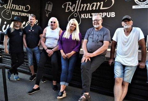 FRISKLIVSGARANTI: - Vi er klare, vi skal la det svinge, sier Bjørn Rugaas (70) som starter opp med bandet Compagniet sammen med Kjetil Wefaat, Jan Sigurd Pettersen, Inger Lise Amundsen og Arne Fostvedt (t.h.).