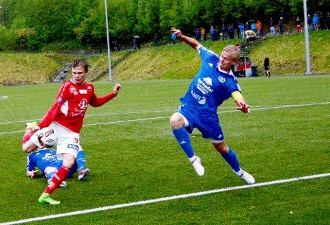 Chrisander Nyland bidro til snuoperasjonen som sendte Sunndal videre i cupen på bekostning av Vegar Brøske og Surnadal. Bildet er fra en tidligere kamp.