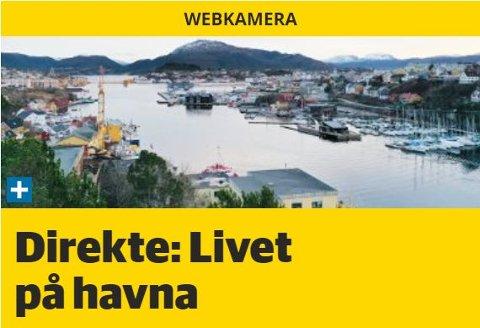 Havna: Du kan følge livet på havna med våre webkamera.