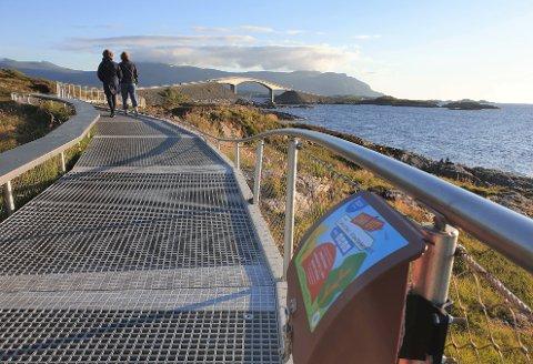 Stikk Ut-turen rundt Svevestien på Atlanterhavsveien er den mest populære når det gjelder antall personer som går turen.