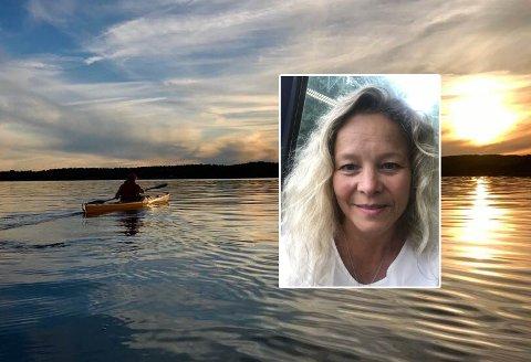 KAJAKKTUR: Illustrasjonsbilde fra naboøya Lindholmen. Elisabeth Blom (innfelt) opplevd ikke bare idyll på sin tur.