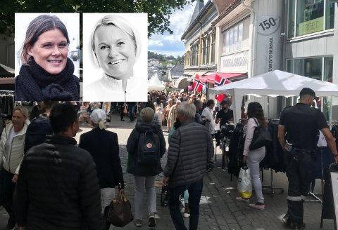 INNSPILL: Cecilie Sørumshagen i Tønsberglivet og Heidi Skjeggerød i Tønsberg Næringsforening peker på svakheter i planene for Bypakke Tønsberg.