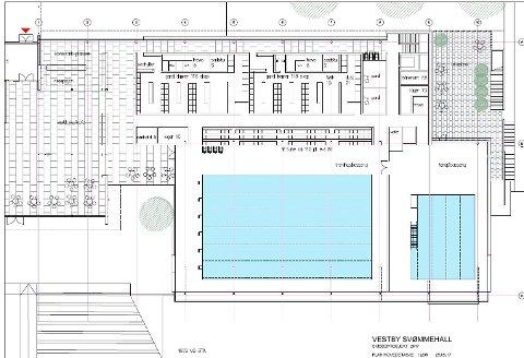 VIL HA MER: Svømmehallkomiteen ønsker å ha med flere elementer enn det denne foreløpige skissen viser.