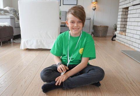 FINALEN: Daniel Arvola (10) kom på 2. plass i finalen i Pangeakonkurransen for 4.trinn.