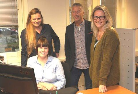 TRENGER FOLK: SystemPartner Norge rigges for videre vekst, og Ingunn Lollik Andersen (fra venstre), Linn Gusland, Petter Tangen og Maj-Renee Holdal trenger 11 nye kolleger.