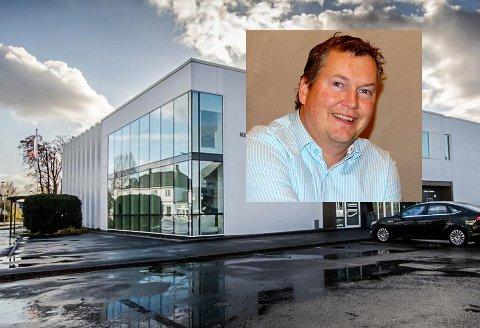 BRA ÅRSRESULTAT: Eiendomsmeglerfirmaet fikk god uttelling etter berg-og-dalbane-året 2020. På bildet ser du Ola Amundsen som leder Eiendomsmegler 1 BV.