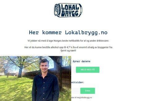 MYE KLART: Eirik Tomter har domenet klart: Lokalbrygg.no.