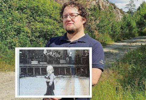 FØR OG NÅ: Hans-Christian Sunde var cirka halvannet år første gang han var på Fjellparkfestivalen. Helgens 40. festival får han ikke med seg.