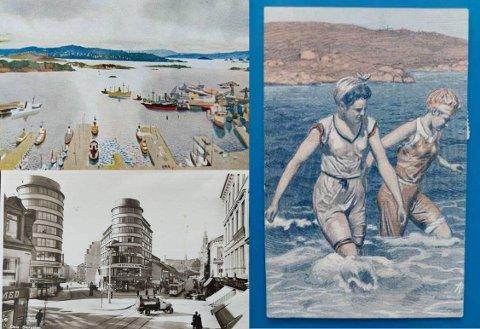 IDYLL: På slutten av 1800-tallet ble postkort med motiver fra Oslo populære. Her er noen av de mest tidstypiske.