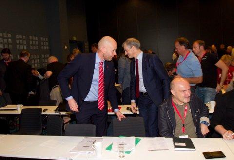 LOs olje og gasskonferanse i Bodø 2016. Olje og energiminister Tord Lien i batalje med partileder Jonas Gahr Støre (Ap) om konsekvensutredning for LOVE.
