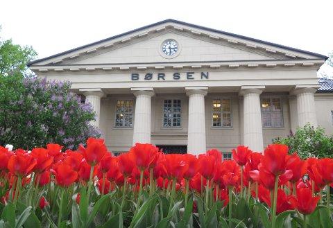 Oslo  20160519. Tulipaner i full blomst ved Oslo børs. Foto: Paul Kleiven / NTB scanpix