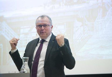 Statoils konsernsjef Eldar Sætre sier senteret bidrar til at selskapet kan nå sin ambisjon om å bli en digital leder. FOTO: MAGNE TURØY