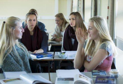 – For to år siden ble fraværsgrensen og leksefri skole hovedtemaer. Men det finnes viktigere ting å diskutere. FOTO: NTB / Scanpix