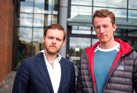 Gabriel Brunvoll og Andreas Vestvann Johnsen studerer begge på Nord Universitet. – At studentene har et viktig ansvar, er de begge enige i.