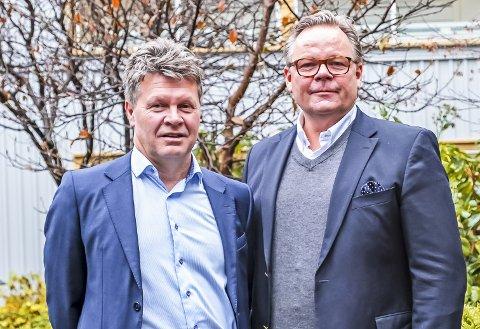FUSJON: Wennstrom Fuel Systems AS og Norsk Energiteknikk AS slår seg sammen. Øystein Tangen (til venstre) blir administrerende direktør og Mats Lund  forretningsutviklingssjef