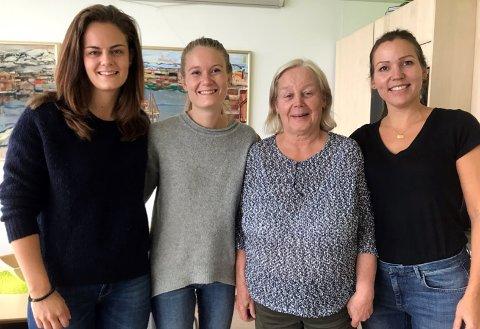 PÅ PLASS: De to ledige stillingene som fysioterapauter i Nordkapp kommune er nå besatt. Fra venstre: Maren B. Ødegård,  Tuva Lindefjeld, Målfrid Gudim og Cristel Lindholm.