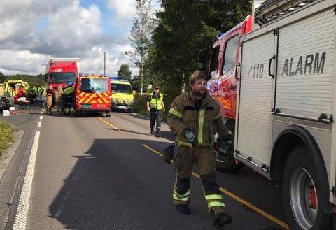 Front mot front-ulykken inntraff ved Gjulem torsdag formiddag.