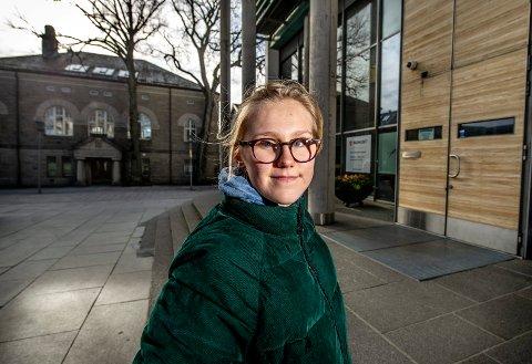 – Før det er for sent: Fredrikke Skahjem vil ha tiltak og handling før klimaendringene blir for store og vanskelige å reversere. Hun står bak ungdomsstreiken i Fredrikstad.